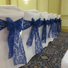 birmingham-chair-cover-hire-royal blue sashes 5