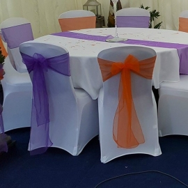 birmingham-chair-cover-hire-purple & Orange sash