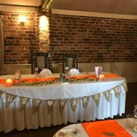 wedding-venue-decorations-birmingham-amy-victoria-orange-top-table-runner