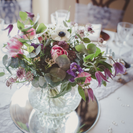 wedding-venue-decorations-birmingham-amy-victoria-floral-centrepiece-with-glass-vase