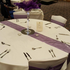 wedding-venue-decorations-birmingham-amy-victoria-giant-martini-glass-purple-feathers-centrepiece