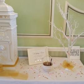 wedding-venue-decorations-birmingham-amy-victoria-post-box-and-wishing-tree-gold-decor